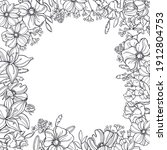 floral vector background with...   Shutterstock .eps vector #1912804753