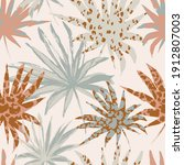abstract palm leaves filled... | Shutterstock .eps vector #1912807003