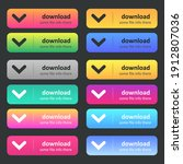 set of download icons button...