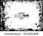 grunge frame. vector template | Shutterstock .eps vector #191281850