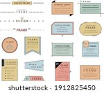 a set of simple designs such as ...   Shutterstock .eps vector #1912825450