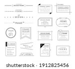 a set of simple designs such as ... | Shutterstock .eps vector #1912825456