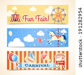 vintage retro carnival fun fair ... | Shutterstock .eps vector #191282954