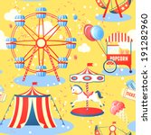 amusement entertainment park... | Shutterstock .eps vector #191282960