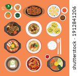 food background  top down view... | Shutterstock .eps vector #1912841206