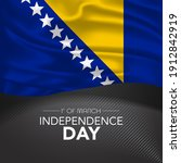 bosnia and herzegovina happy...   Shutterstock .eps vector #1912842919