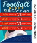 football night poster | Shutterstock .eps vector #191285990