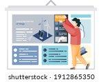 man examines information at... | Shutterstock .eps vector #1912865350