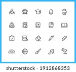 school supplies and subjects...   Shutterstock .eps vector #1912868353