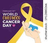 international childhood cancer... | Shutterstock .eps vector #1912880266