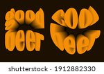 stickers with volumetric... | Shutterstock .eps vector #1912882330