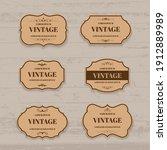 vector vintage label and frame... | Shutterstock .eps vector #1912889989