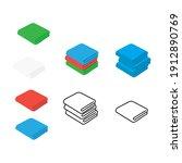 set of towel raster...   Shutterstock . vector #1912890769