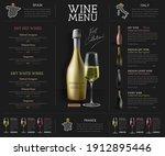 wine restaurant menu design...   Shutterstock .eps vector #1912895446