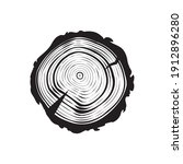 tree trunk cut icons  cross... | Shutterstock .eps vector #1912896280