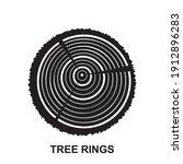 tree rings icons  cross... | Shutterstock .eps vector #1912896283