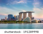 Landscape Of The Singapore...