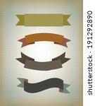 label design over beige... | Shutterstock .eps vector #191292890