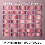 collection of rose gold...   Shutterstock .eps vector #1912939216