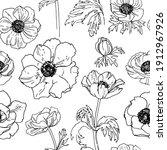 pattern flowers vector line... | Shutterstock .eps vector #1912967926