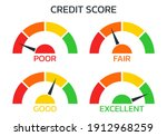 credit score meter set. gauge ...   Shutterstock .eps vector #1912968259