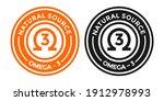 natural source omega 3 vector... | Shutterstock .eps vector #1912978993