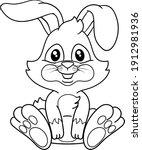 easter bunny rabbit cartoon...   Shutterstock .eps vector #1912981936