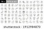 outline web icon set   pet  vet ... | Shutterstock .eps vector #1912984870