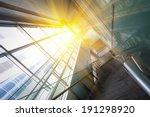 sun shining modern office... | Shutterstock . vector #191298920