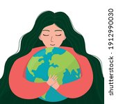 mother earth day. poster with...   Shutterstock .eps vector #1912990030