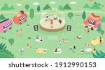 outdoor music festival concept... | Shutterstock .eps vector #1912990153