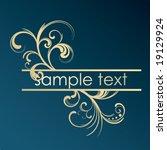 golden floral frame | Shutterstock .eps vector #19129924