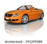 orange elegant convertible car | Shutterstock . vector #191299388