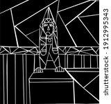 sphinxes on the university... | Shutterstock .eps vector #1912995343