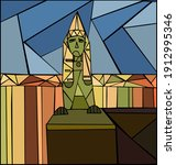 sphinxes on the university... | Shutterstock .eps vector #1912995346