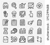 doodle web icons set | Shutterstock .eps vector #191299688