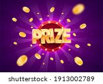 win prize gold text on retro... | Shutterstock .eps vector #1913002789