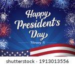 happy president's day february...   Shutterstock .eps vector #1913013556