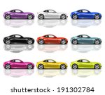 collection of multicolored 3d... | Shutterstock . vector #191302784