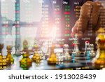 chess game on chess board... | Shutterstock . vector #1913028439