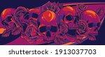 Vector Illustration Skulls With ...