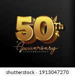 50th anniversary logotype with...   Shutterstock .eps vector #1913047270