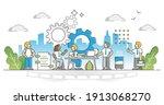 internship as job career... | Shutterstock .eps vector #1913068270