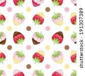 strawberry   pineberry dipper... | Shutterstock .eps vector #191307389