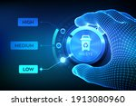 waste management concept.... | Shutterstock .eps vector #1913080960
