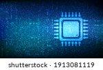 processor. cpu microprocessor... | Shutterstock .eps vector #1913081119