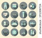 fitness icons set    Shutterstock .eps vector #191308724