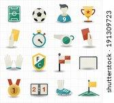 soccer icons | Shutterstock .eps vector #191309723