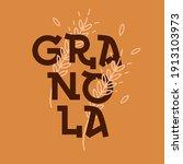 granola logo design template....   Shutterstock .eps vector #1913103973