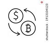 dollar to bitcoin conversion... | Shutterstock .eps vector #1913104123